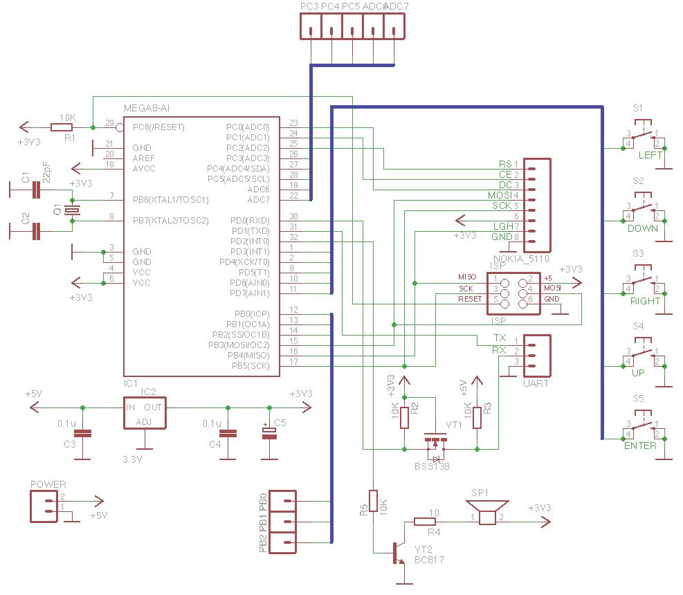 Схема модуля в словах
