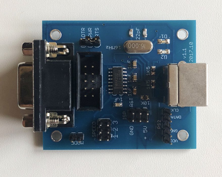 PS/2 mouse to a serial port adapter