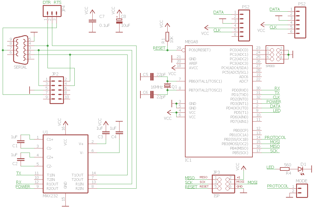 ps/2 mouse adapter circuit